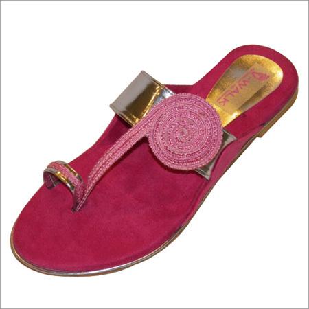 Ladies Fancy Flat Sandal