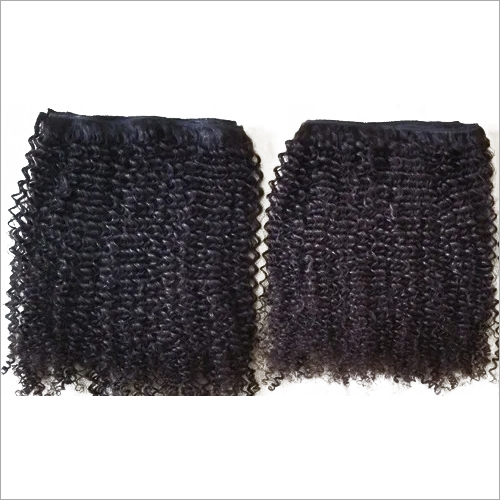 Processed curly human hair,