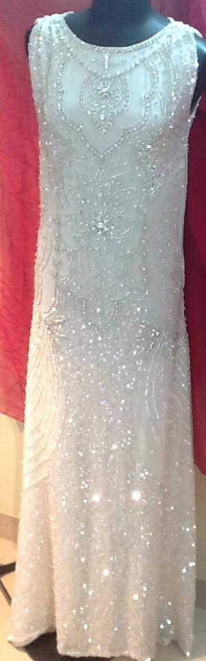 Silk/crystal wedding gown