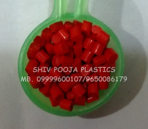 Recycled Red abs granules