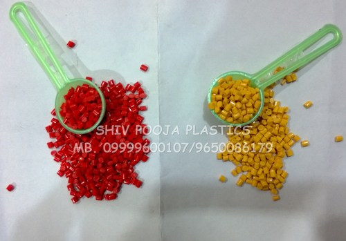 red and yellow abs granules