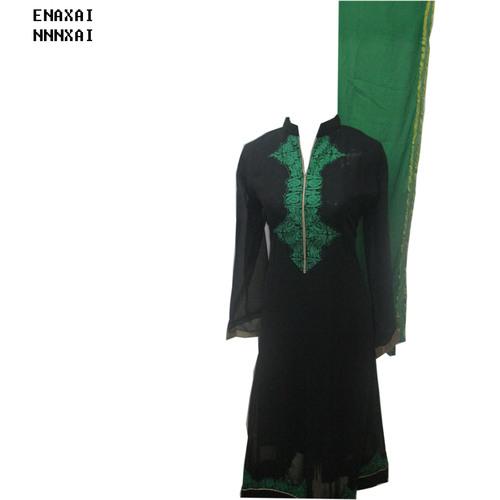 Black Georgette Printed Salwar Kameez