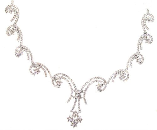 unique design diamond necklace