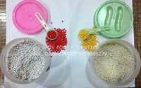 white and natural abs granules