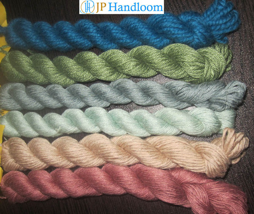Silk & Wool Blended Knitting Yarns (Dyed)