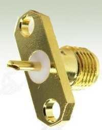 SMA male 2 hole connector