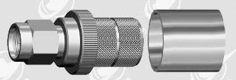 SMA male crimp connector for MLR 400 cable