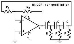 IC Phase Shift Oscillator