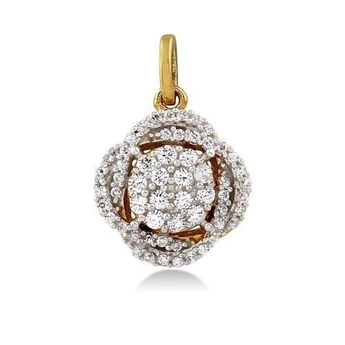 Square shape diamond pendent