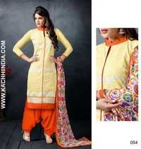 Unstitched Exclusive Chanderi Dress Material
