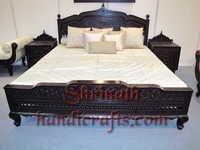 Carved Teak Bed