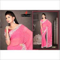 Embroidered Pink Sarees