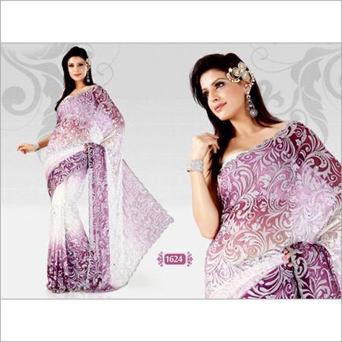 Stylish Embroidered Sarees