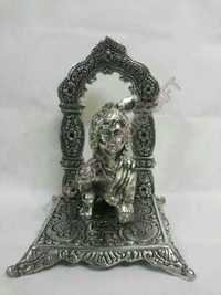 Brass statues of Krishna