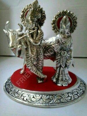 Brass Radhe Krishna Figure