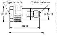 N(m)-2.4mm(m) Adaptor