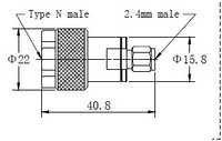 N(m)-2.4mm(m) Adaptor1