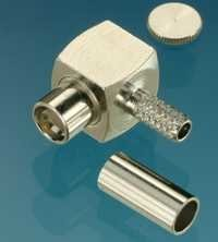 SMP female right angle connector