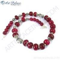 Simple Red Ruby In India Touch, German Silver Jewelry