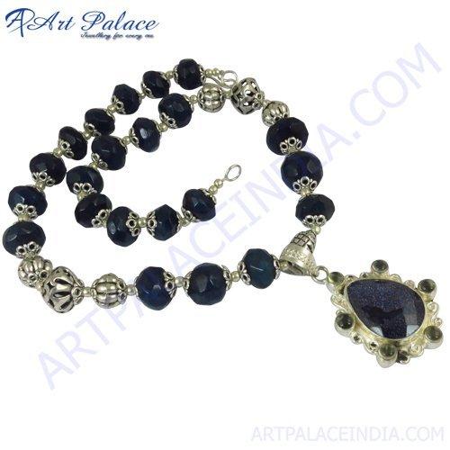 New Fashion Silver Gemstone Necklace Jewelery