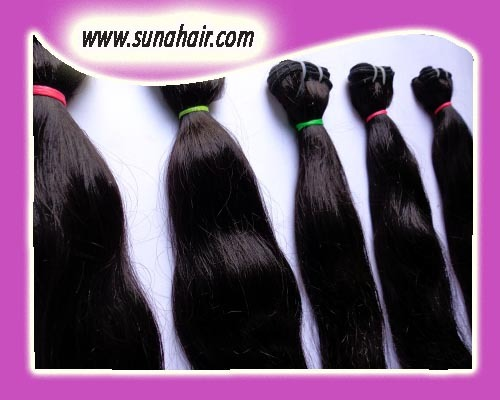 Brazilian virgin quality wavy texture natural remy human hair