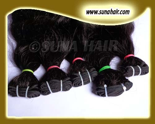 Malaysian natural remy silky straight human hair extension with low price