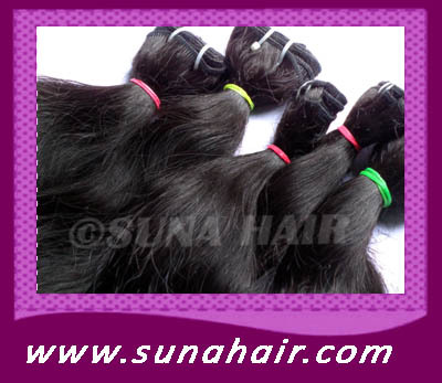 black color Perfect indian human hair weave ex