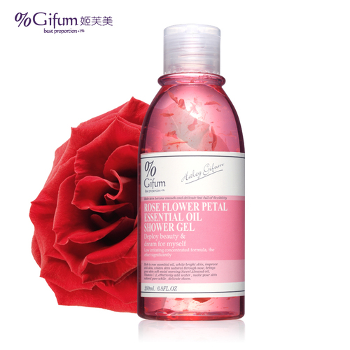 Rose petal essential oil shower gel -Body Cosmetic