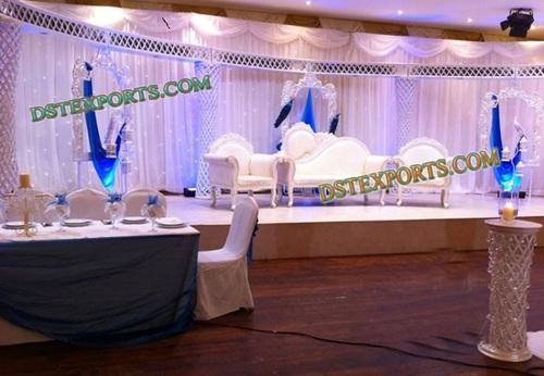 LATEST WEDDING CRYSTAL HALF MOON STAGE