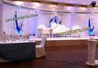 LATEST WEDDING CRYSTAL HALF MOON STAGE