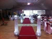 WEDDING WALKWAY CRYSTAL PILLAR WITH BALL