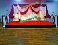 Wedding Stage Golden Italian Sofa