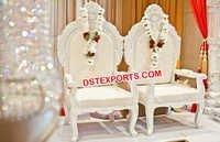 Wedding Mandap White Chairs Set
