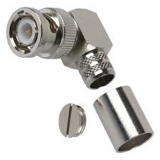 BNC male right angle crimp connector for LMR 400 cable