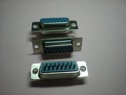 DB 15 pin female d type connector