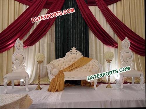 Asian Wedding Elegant White Furniture
