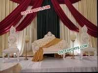 Asian Wedding Elegant White Furniture