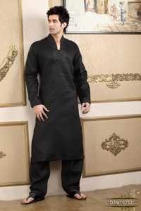 Men's Black Kurta Pajama