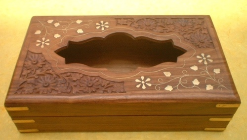 Wood metal inlay with carving design Misc Handifra