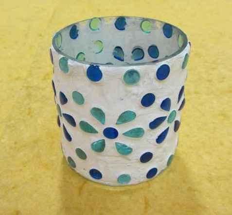 Misc Handifraft Glass mosiac chips t light