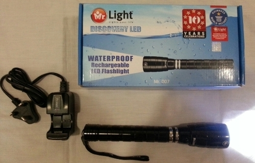 Mr Light Waterproof rechargeable LED Torch