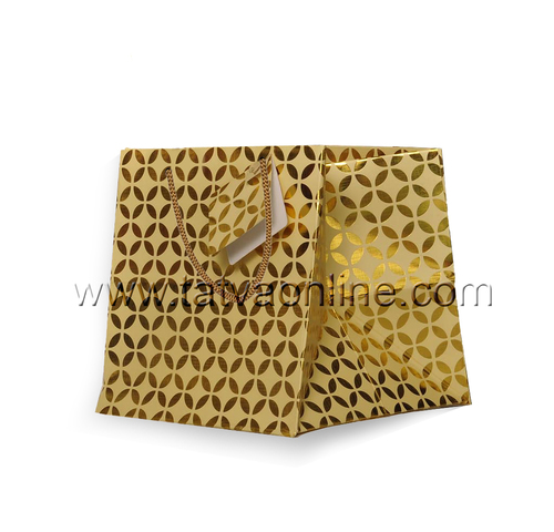 Golden Paper Bag With Handles