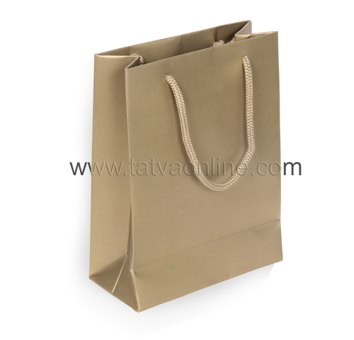 Plain Gold Paper Gift Bag