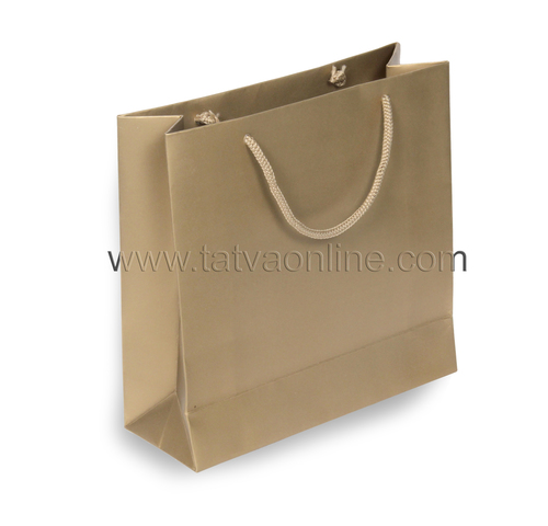 Plain Golden Paper Bag