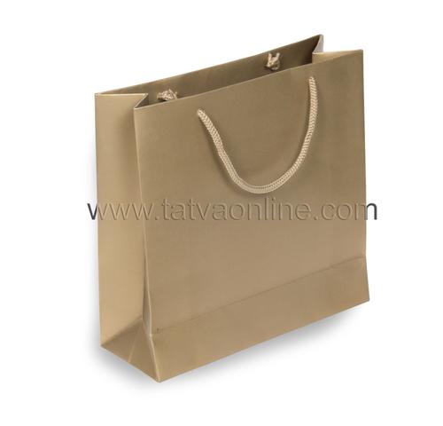 Plain Golden Paper Bag