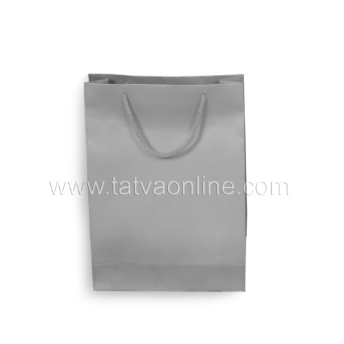 Silver Paper Bag With Handles