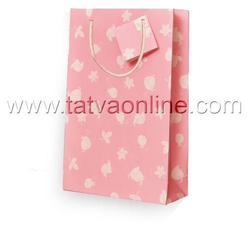 Handmade Baby Pink Paper Bag
