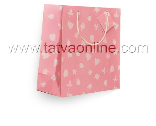 Baby pink paper bag