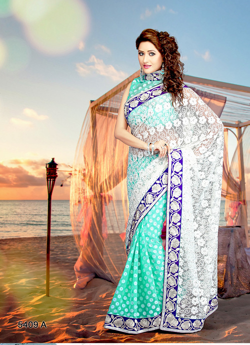 Resham Work Saree