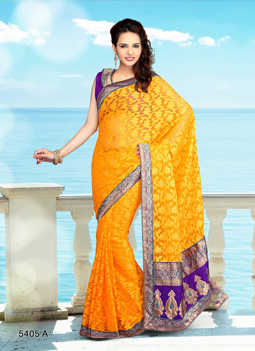 Yallow Saree